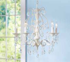 Candle Chandelier Pottery Barn Clear Alyssa Chandelier Pottery Barn
