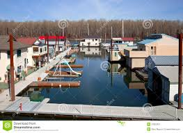 floating houses floating houses in portland oregon stock image image 37101709
