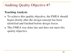 design freeze meaning how to audit fme as using quality objectives