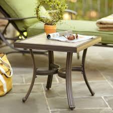 Side Accent Table Hampton Bay Pembrey Patio Accent Table Hd14217 The Home Depot