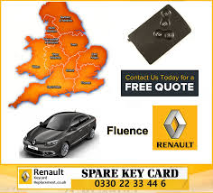 renault fluence 2010 fluence 2010 replacement 4 button remote key card