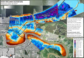 New Orleans Usa Map by Climate Geography