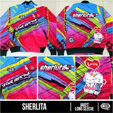desain jaket racing drag race jacket sherlita sublimation print by qita design drag