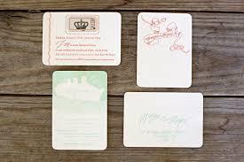 margie morgen u0027s art deco inspired letterpress wedding invitations