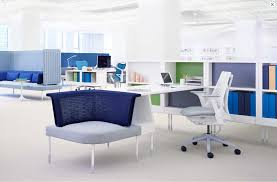 Modern Desk Office by Herman Miller Showroom By Bringing Ergonomic Soft Seating To The