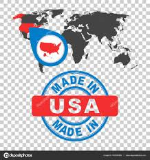 Usa World Map by Made In Usa America Stamp World Map With Red Country Vector