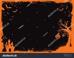halloween picture background halloween element border background template stock vector