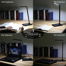 bedroom lamps le dimmable led desk lamp 7 brightness levels eye protection