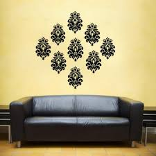 home decor wall art stickers baroque damask filigree vinyl decal