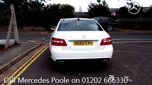 mercedes of poole 2012 mercedes e class sport 3l polar white hg62cyv for sale