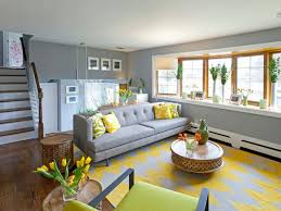 Yellow And Gray Living Room Rugs Photo Page Hgtv