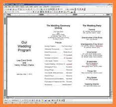 Blank Wedding Program Templates 8 Events Program Template Bussines Proposal 2017