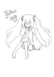 hatsune miku colouring page by kurapichan on deviantart