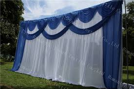 wedding backdrop blue compare prices on wedding decoration blue curtain online shopping