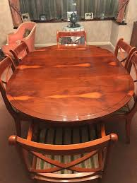 Yew Dining Table And Chairs Regency Reproduction Dining Furniture Set Of Eight