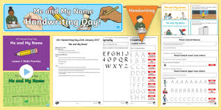 ks1 me and my name handwriting day lesson teaching pack ks1