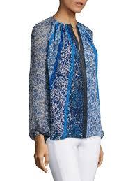 print blouses elie tahari venisia floral print blouse ozone s tops