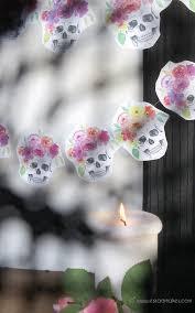 free printables halloween flower crown skull garland u2013 diy u0026 craft