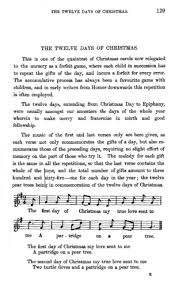 the twelve days of christmas version 1