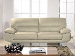 solde canapé cuir canapé cuir 3 places la maison du canapé en beige ou noir prix