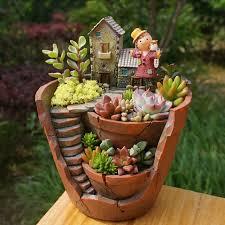 aliexpress com buy 1pc creative resin decorative succulent plant