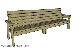Wood Bench Plans Free by 8 Ft Bench Plans Myoutdoorplans Free Woodworking Plans And