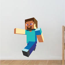 Minecraft Decorations For Bedroom Minecraft Main Character Steve Bedroom Wall Stickers Minecraft
