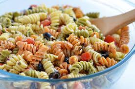 pasta salad with mayo tri color pasta salad