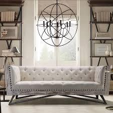 Modern Digs Furniture by Regis Sofa Pine Gunmetal Cream Modern Digs Furniture