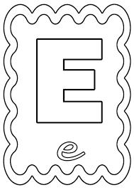 Coloriage Lettre E à colorier ou à gommettes