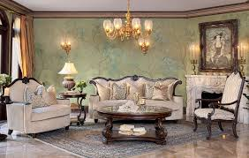 michael amini essex manor luxury upholstered living room set by
