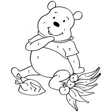 thanksgiving winnie the pooh colouring pages for children to print