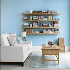 Shelves For Living Room Living Room With Wooden Floating Shelves Ways To Creating