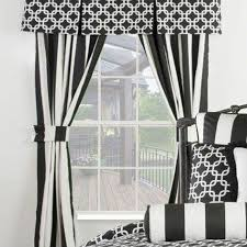 Black White Stripe Curtain Black And White Striped Curtains Bedroom Rs Floral Design