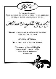 Wedding Invitations In Spanish Quinceanera Invitations In Spanish Cloveranddot Com
