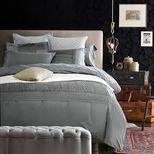 Quilt Duvet Covers Silk Sheets Luxury Designer Bedding Set Silver Grey Quilt Duvet