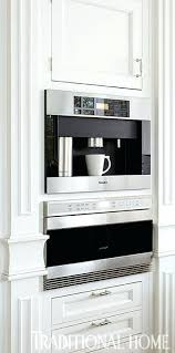 best under cabinet coffee maker in cabinet coffee maker farmhouse kitchen cabinets with range hood