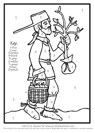 johnny appleseed coloring preschool coloring pages ideas