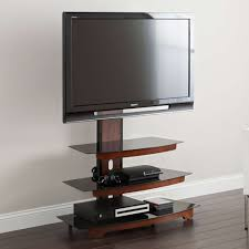 Bell O Triple Play Tv Stand Whalen 3 Tier Cherry Brown Flat Panel Tv Stand For Tvs Up To 50