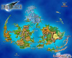 Final Fantasy World Map by Kingdom Hearts World Map Kingdom Hearts World Map Kingdom
