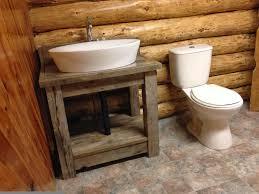 diy rustic bathroom vaniy with white toilet and natural wooden diy rustic bathroom vaniy with white toilet and natural wooden wall also white ovale sink also natural ceramic floor design