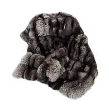 Furry Blanket Fur Blanket Silver Fox Real Genuine Leather Handmade By Furhome