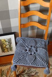 dining room chair pads and cushions seat cushion crochet chair cover chair pad farmhouse decor by
