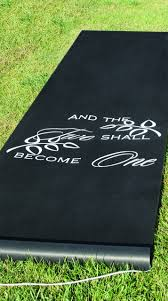 black aisle runner hortense b hewitt black two become one aisle runner