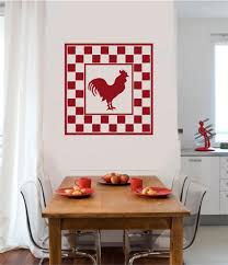 rooster chicken vinyl decal wall stickers letters words primitive