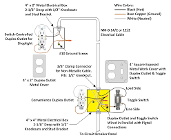 electrical for how to wire a light switch and outlet diagram