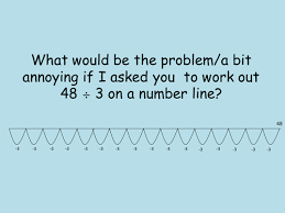 division by chunking numberline by nsm77 teaching resources tes
