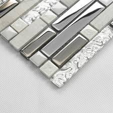 Glass And Stone Backsplash Tile by Crackle Crystal Tiles Stone Backsplash Silver Plating Glass And