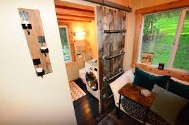 tiny house walk through interior basics sliding barn door ladder