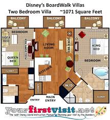 Two Bedroom Floor Plan by Review Disney U0027s Boardwalk Villas Yourfirstvisit Net